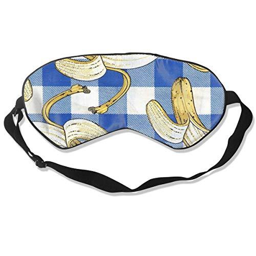 Schlafmaske, Cartoon, Bananen-Seide, Maske mit verstellbarem Kopfband, Block, leichtes Nickerchen