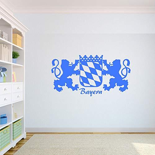 myrockshirt Bundesland Freistaat Bayern Wandtattoo Bayerisches Wappen 60cm Aufkleber Autoaufkleber Sticker Decal UV&Waschanlagenfest Profi Qualität