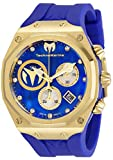 Technomarine Men's Reef Sun Stainless Steel Quartz Watch with Silicone Strap, Blue, 32.5 (Model: TM-519015)