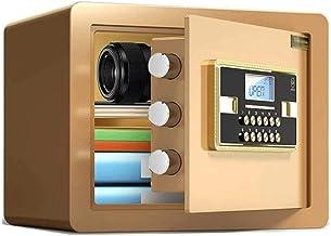 Z-COLOR Small Value Safe, Digital Keypad, LED Light Indicators, Steel Locking Bolts, Emergency Override Key, Black Finish