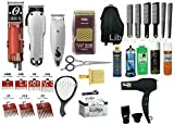 Liberty Supply Advanced Barber School Beauty School Cosmetology School Student KIT Practice Set. This kit Has All The Tools You Need to be a Barber Clippers Trimmers Shavers Razors