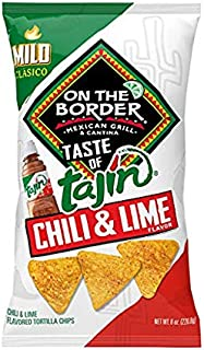 On The Border Taste of Tajín Clasico Tortilla Chips, 8 Ounce (Pack of 3)