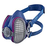 GVS SPR457 Elipse P100 Dust Half Mask Respirator with replaceable and reusable filters included, blue, m/l size