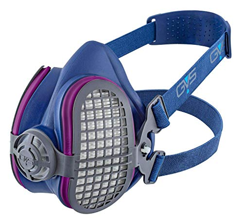 GVS SPR457 Elipse P100 Dust Half Mask Respirator with replaceable and reusable filters included,...