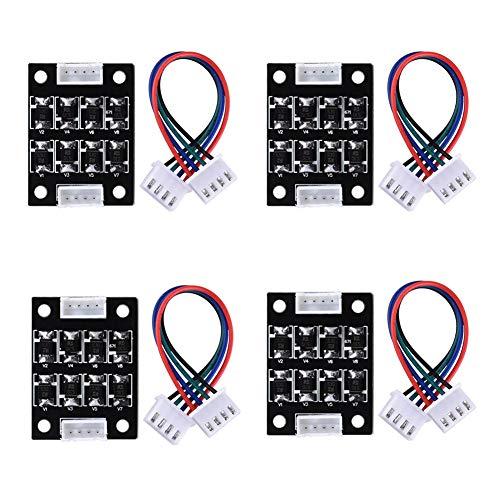 ReliaBot - Modulo aggiuntivo TL-Smoother per sistema di rimozione del motore, 4 pezzi, filtro Clipping, filtro 3D Pinter, terminatore, Reprap MK8 I3 Ender 3 Anycubic Mega stampante 3D