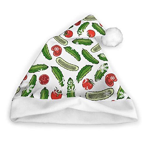 Pillow Socks Ensalada De Verduras Verdes Frescas. Gorro De Pap Noel para Nios Y Adultos, Gorros De Navidad Gorro Divertido Y Novedoso para La Fiesta Festiva De Ao Nuevo