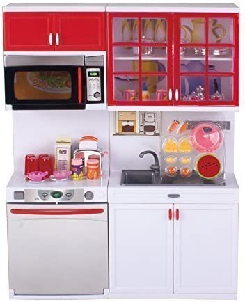 Phoenix Mall QUN FENG Girls Modern Outstanding Toy Kitchen with Use Playset for Perfect