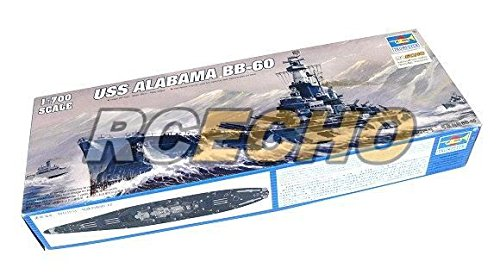 RCECHO® Trumpeter Military Model 1/700 War Ship USS Alabama BB-60 Hobby 05762 P5762 with 174; Full Version Apps Edition