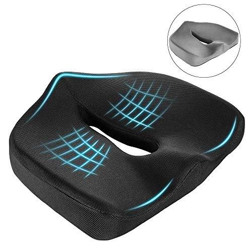 Newdora Sitzkissen Memory Schaum ideal für Reisen, Auto, Büro(Abdeckung * 2 inklusive)