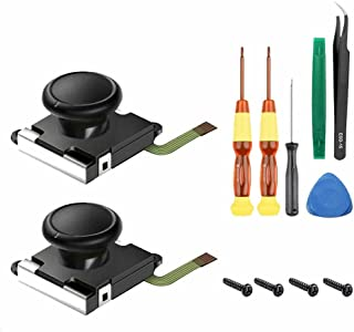 PALMIER Joy-con 対応 switch コントローラー 右 左 センサー アナログ ジョイスティック 交換キット 2個 キャップ付き ニンテンドー スイッチ ジョイコン コントロール JOYNAOSI