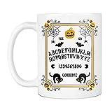 NA Taza de Juego de Mesa Ouija, Calabaza, araña, murciélago, Gato Negro, Terror, Halloween, Tazas de café de cerámica Que Dicen Blanco,