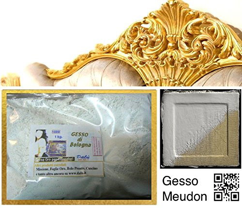 prodigital Materiale per la Doratura: 1kg Gesso di Bologna per Doratura Amminatura e Stucchi di Alto Pregio (Gesso di Bologna 1kg)