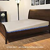 Cover for Avana Mattress Elevator - King Size, Cover ONLY, 7 Inch Size, 100% Cotton, Natural