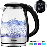 Brightown Electric Tea Kettle, Glass Hot Water Pot with LED Lights, Variable Temperature Control,...