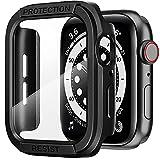 AdMaster Schermo Protettore Cover per Apple Watch 44mm, TPU Protezione Totale Copertura Paraurti con HD Clear Temperato Sensibile vetro Pellicola per iWatch Serie 6/5/4/SE 44 mm (Nero)