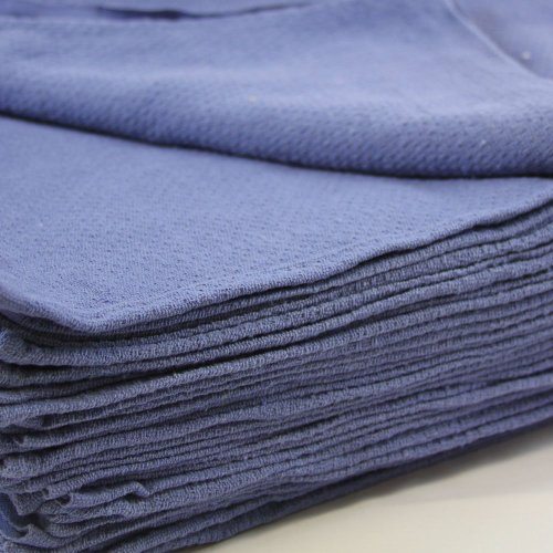 "Huck Towels Blue-Commercial -50 Piece Pack -16""x 24""- New 100% Cotton Super Absorbent-Low Lint"