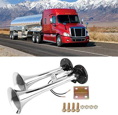 12V 150dblkw hupe, Hupe Nebelhorn einzelne Trompete Signalhorn Fanfare Druckluft Horn für PKW LKW Fahrzeug, für Auto, Boot, LKW