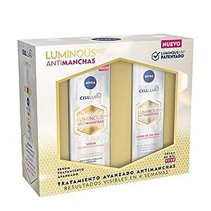 NIVEA Cellular LUMINOUS 630 Pack Antimanchas Tratamiento Avanzado, set de regalo con sérum facial (1 x 30 ml) y crema de día (1 x 40 ml) para una piel uniforme y luminosa