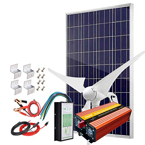 Giosolar Solar Wind Powered Hybrid System With 2000W Power Inverter