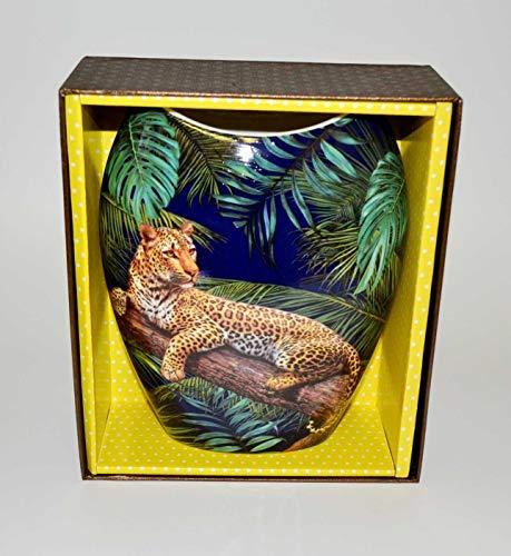 Atelier Harmony Jaguar vaas bloemenvaas porselein met geschenkdoos NIEUW Limited Collection
