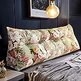 Almohada de Lectura Cojín Cuña Cabecera triangular grande Almohada de almohada Reforzador Lumbar Cojín Posicionamiento Soporte de lectura Cuña Almohada para cama de cama con cubierta extraíble