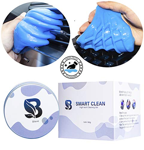 Smart Clean - Magic Dust Cleaning Mud Keyboard Cleaner Gel Goo for Car Interior Detailing Tools, Laptop, Computer, Lens, Auto Air Vent Clean Wipes, Automotive Super Slime Cleaner Duster Putty Gel