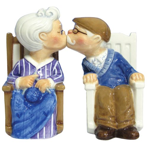 Westland Giftware Mwah Magnetic Rocking Chair Couple Salt and Pepper Shaker Set, 4-Inch