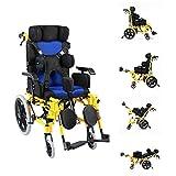 KDMB Carro para Silla de Ruedas para parálisis Cerebral para Adultos/niños multifunción niños discapacitados acostado acostado en Silla de Ruedas médica