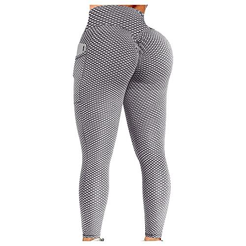 QTJY Estirar los Pantalones Deportivos de Cintura Alta para Yoga, Gimnasio para Mujeres, Correr, Deportes, Push-up, Ejercicio, Medias sin Costuras EM