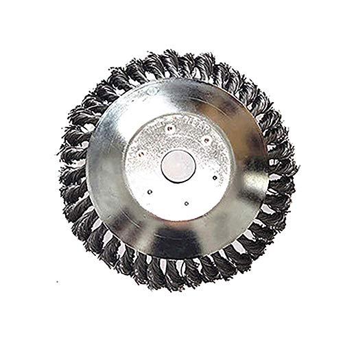 DEDC Cepillo Redondo para Desbrozadoras Disco para Desbrozadora Cortadora de Césped Herramientas de Limpieza de Malezas para Cuidado de Jardín Diámetro 150 mm