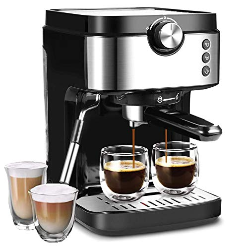 Coffee Machine 20 Bar Espresso Machine With Foaming Milk Frother Wand, No-Leaking 903ml Removable Water Tank Coffee Maker For Espresso/ Cappuccino/ Latte/ Machiato and For Home Barist (1700W), Sold By Go4max