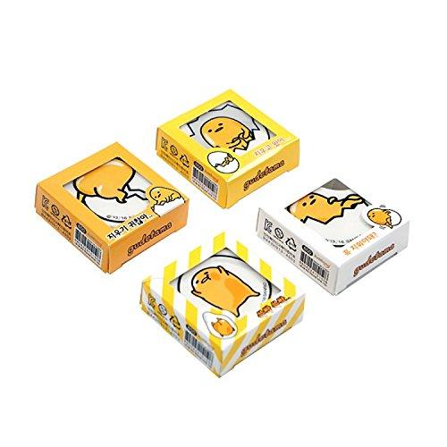 Sanrio Gudetama Lazy Egg School Supply Stationery Eraser : 4 Designs 1 Set