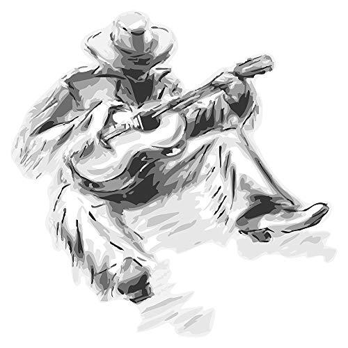 Wandtattoo USA Wandsticker Country Sänger im zeichnerischen Look Amerika Wandta