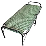 AARAM Smart Plastic Niwar Folding Bed Size (2.5 x 6) | Strong | Lightweight | Multicolor