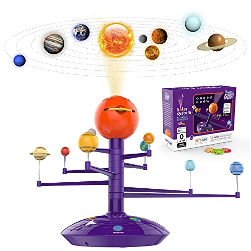 Sistema solar para niños 3 4 5 años niño y niña regalo de cumpleaños, planeta juguetes para niños 3 – 5 sistema solar modelo...