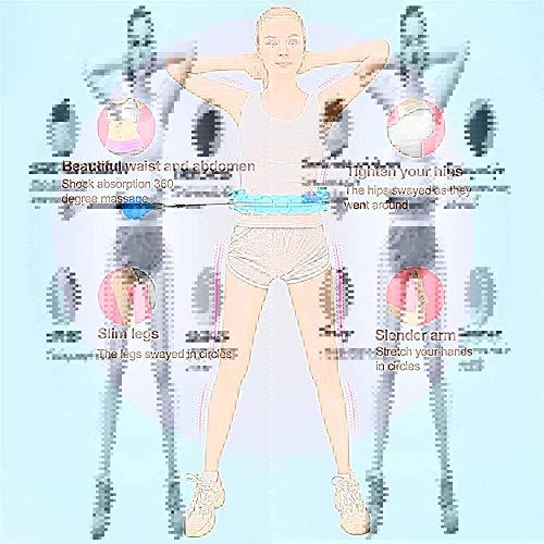 Schneespitze Hula Hoop, Hoola Hoop para Adultos para Bajar de Peso y masajes, Un Hoola Hoop Desmontable de para Fitness/Entrenamiento o contornos de los músculos Abdominales -Rosa (24 Nudos