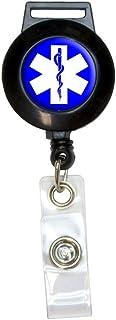 ستار أوف لايف - حامل بطاقات الهوية لبكرة الحبل الطبي EMT RN MD قابل للسحب