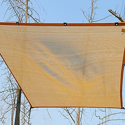 YFZN Red de Sombreado Beige, Paño de Protección Solar Engrosada Encriptada 90%, Vela de Sombra Antienvejecimiento, Sombra Patio Jardín Balcón Invernadero y Red de Aislamiento Térmico 4x4m 5x6m 6x6m