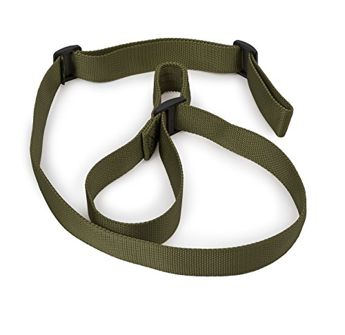 STI 2 Point Rifle Sling - Adjustable Gun Sling with Fast-Loop and 1.25 inch Webbing for Hunting Sports and Outdoors (GI Green/Hunter Green)