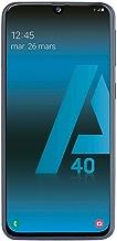SAMSUNG Galaxy A40 - Smartphone Portable débloqué 4G (Ecran: 5, 9 Pouces - 64 Go - Double Nano-SIM - Android) - Noir - Version Française