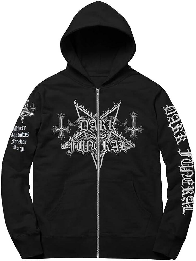 Dark Funeral Men's Where Shadows Forever Reign Zip-Up Hoodie