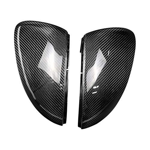 Auto Spiegelkappen Carbon Links Rechts Seitenspiegelabdeckung ABS Matt Verchromt (2er Pack) Passend für Volkswagen Golf MK7 MK7.5 7 GTI R 2013-2018