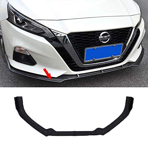 NINTE Front Lip for 2019 2020 Nissan Altima, ABS Carbon Fiber Style Front Bumper Spoiler Splitter Wing 3pcs