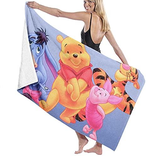 Las toallas de baño Winnie Cartoon Pooh son suaves de felpa 100% algodón, fuerte absorción de agua, adecuadas para gimnasios, baños, piscinas y spas