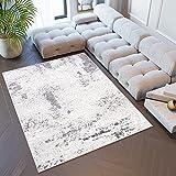 Tapiso Sky Alfombra de Salón Comedor Dormitorio Juvenil Diseño Moderno Crema Gris Vintage Marroquí Suave 250 x 350 cm