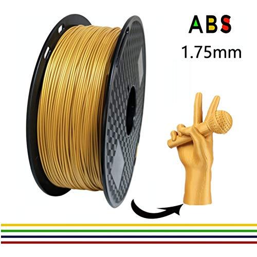 ABS 3D Printer Filament, 1kg Spool, 1.75 mm for 3D Printing, 3D Pens Dimensional Accuracy +/- 0.02 mm 1KG [2.2 LBS] Spool 3D Filament (Color : Black)