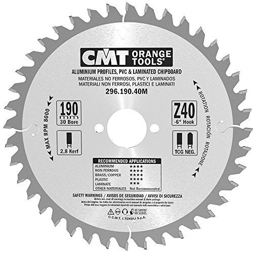 CMT Orange Tools 296,190,40 m scie circulaire 190 x 30 x 2,8 z tcg-6 40°