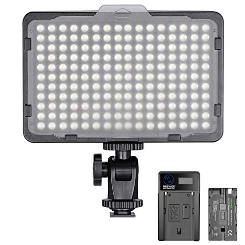Neewer Dimmable 176 LED Video Light 5600K on Camera Light Panel Compatible...