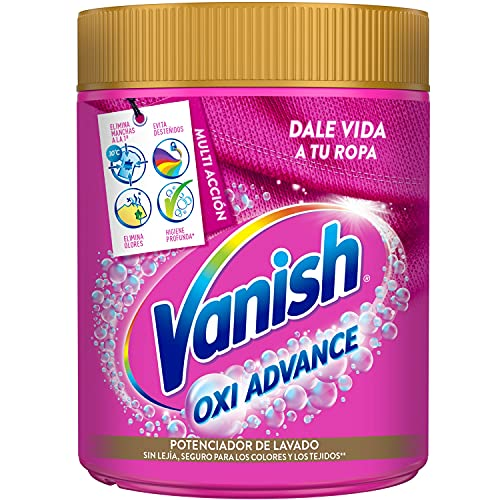 Vanish Oxi Advance Quitamanchas para la ropa, Elimina Olores y Evita Desteñidos, en Polvo, sin Lejía, 450 g