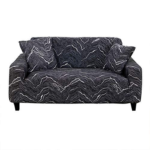 HOTNIU Elastischer Sesselbezug Stretch Sofa-Überwürfe Sofaüberzug Sesselhusse Sofabezug Sofa Abdeckung Hussen für Couch Sessel in Verschiedene Größe und Farbe (3 Sitzer, Muster#LZJB)